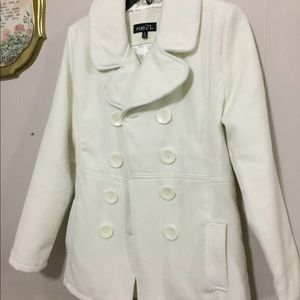 Rue 21 Cream Pea Coat